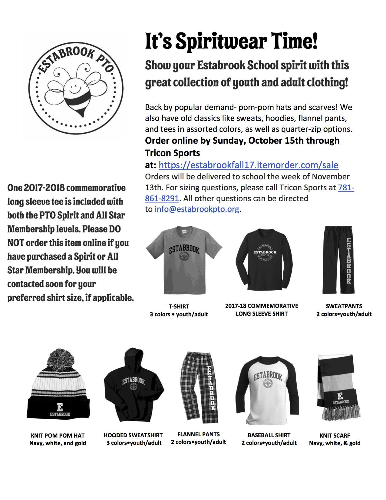 Estabrook PTO Spiritwear 2017
