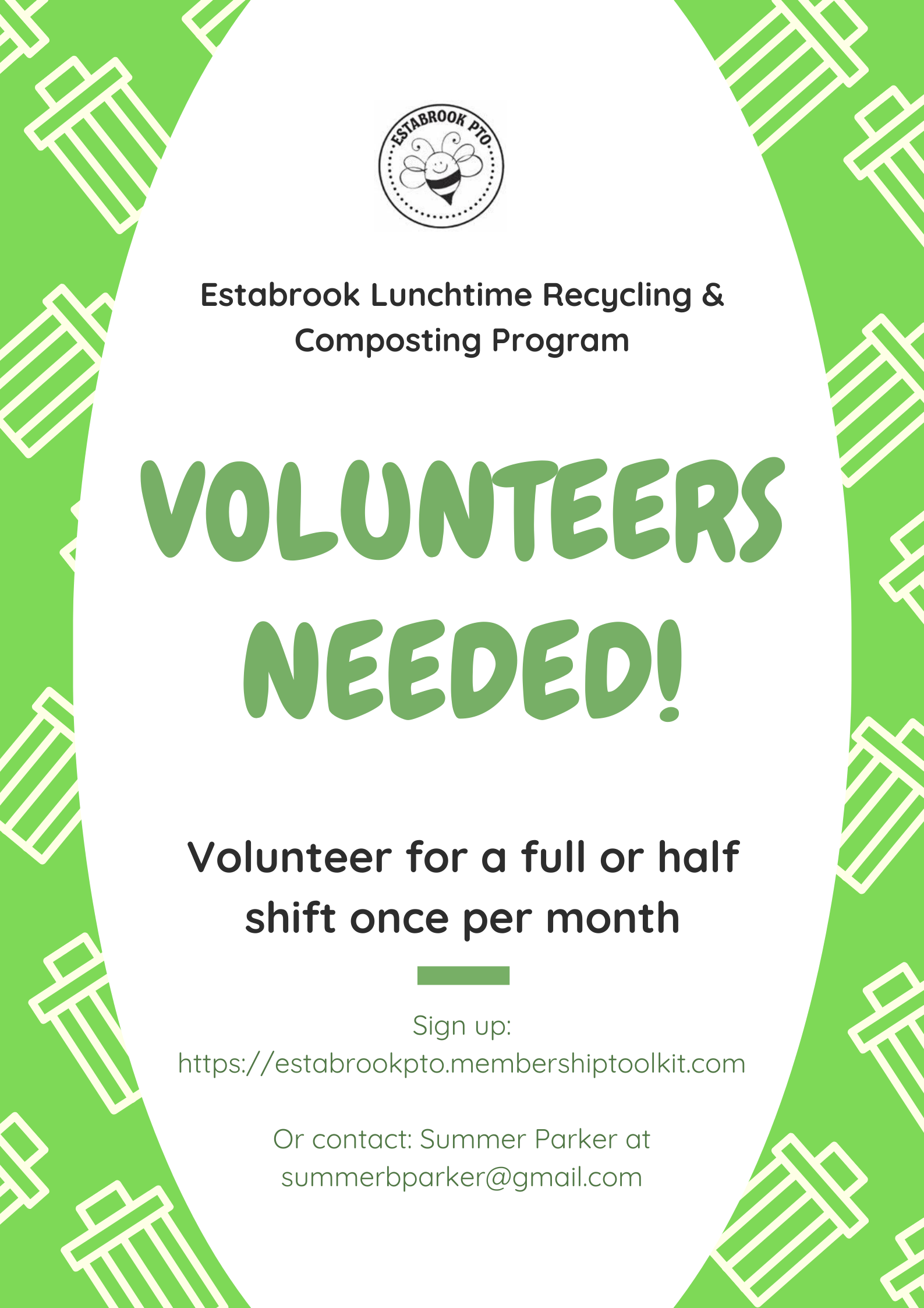 Estabrook Lunchtime Recycling & Composting Program-Volunteers calling (1)